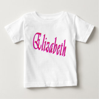 Elizabeth Girls Name Logo, Baby T-Shirt