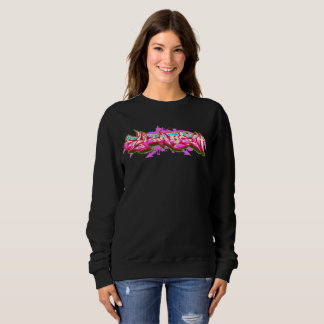 Elizabeth Graffiti Black Streetwear Sweatshirt