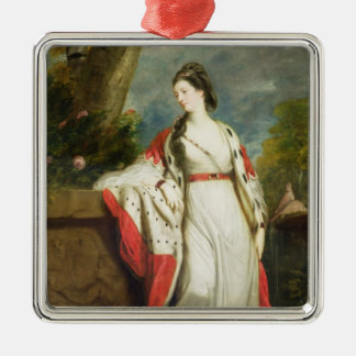Elizabeth Gunning, Duchess of Hamilton and Duchess Silver-Colored Square Decoration