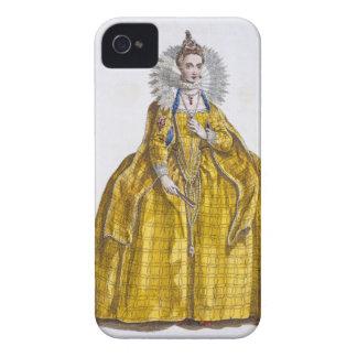 Elizabeth I (1530-1603) (coloured engraving) iPhone 4 Cover