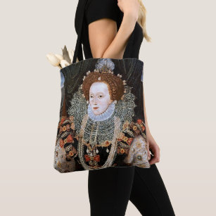 Elizabeth I and Anne Boleyn Queens of England Tote Bag