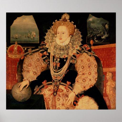 Elizabeth I, Armada portrait, c.1588 Posters