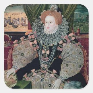 Elizabeth I, Armada Portrait, c.1588 Square Sticker