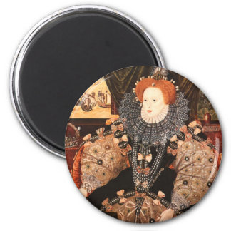 Elizabeth I 6 Cm Round Magnet
