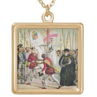 Elizabeth I, plate 12 from 'The History of the Nat Gold Plated Necklace