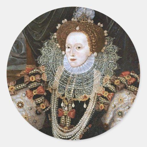 Elizabeth I Portrait Round Sticker