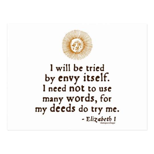 Elizabeth I Quote about Judgement Postcard
