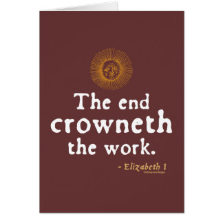 Elizabeth I Quote on Work Card