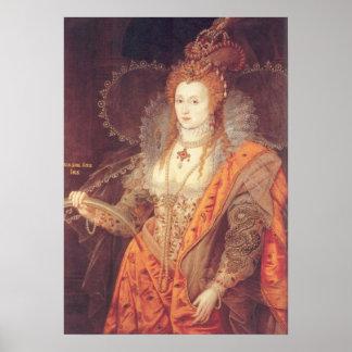 Elizabeth I Rainbow Portrait Print