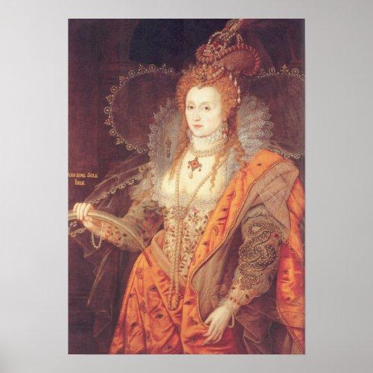 Elizabeth I Rainbow Portrait Poster