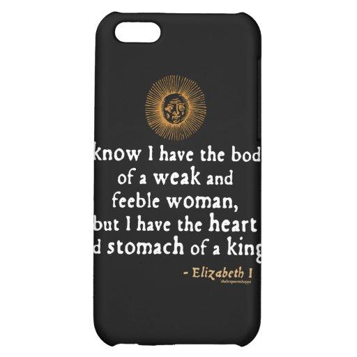 Elizabeth I Tilbury Quote iPhone 5C Cover