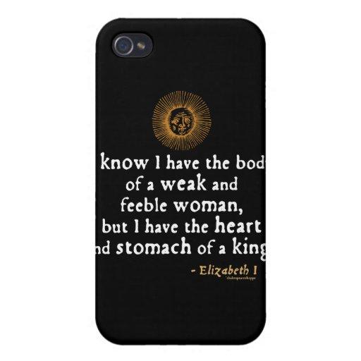 Elizabeth I Tilbury Quote iPhone 4/4S Cover