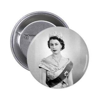 Elizabeth II queen of England 6 Cm Round Badge