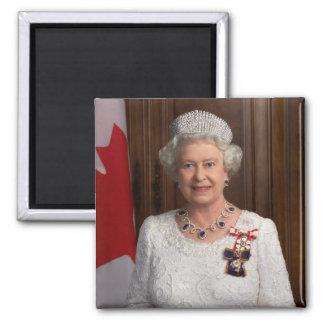 Elizabeth II Queen of England Square Magnet