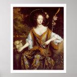 Elizabeth Jones, Countess of Kildare, c.1684 (oil Poster