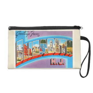 Elizabeth New Jersey NJ Vintage Travel Postcard- Wristlet Purses