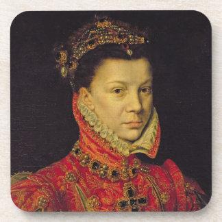 Elizabeth of Valois 1545-68 1570 oil on canvas Drink Coasters