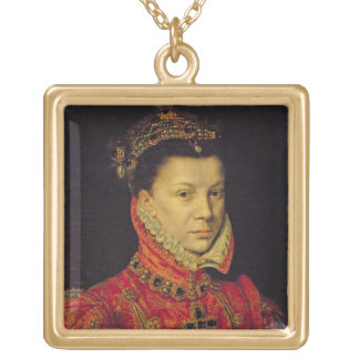 Elizabeth of Valois (1545-68) 1570 (oil on canvas) Gold Plated Necklace