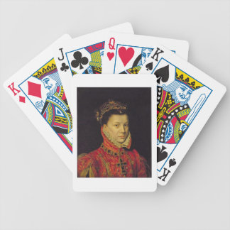 Elizabeth of Valois 1545-68 1570 oil on canvas Bicycle Poker Cards