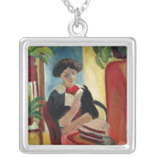 Elizabeth Reading Silver Plated Necklace