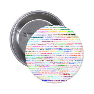 Elizabeth Text Design II Round Button