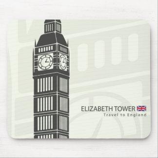 Elizabeth tower clock big Ben in London Mouse Mat
