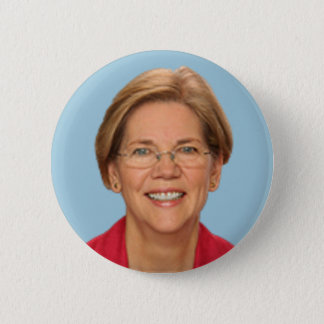 elizabeth warren 6 cm round badge