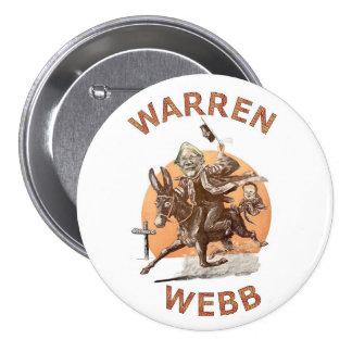 Elizabeth Warren and Jim Webb in 2016 7.5 Cm Round Badge