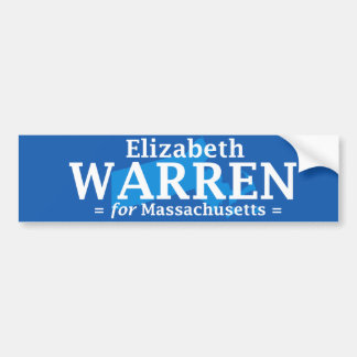Elizabeth Warren for Massachusetts bumper sticker