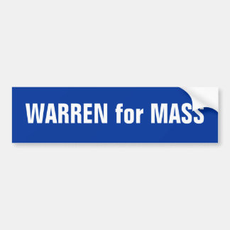 Elizabeth Warren for Massachusetts Senate Bumper Sticker