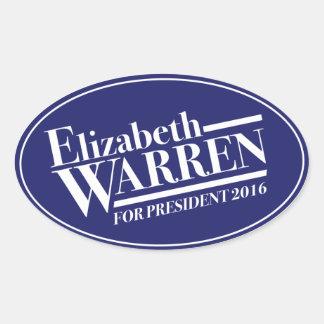 Elizabeth Warren for President 2016 oval sticker