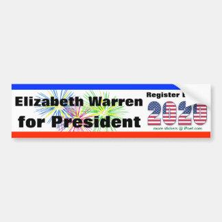 ELIZABETH WARREN FOR PRESIDENT 2020  - BUMPER STICKER