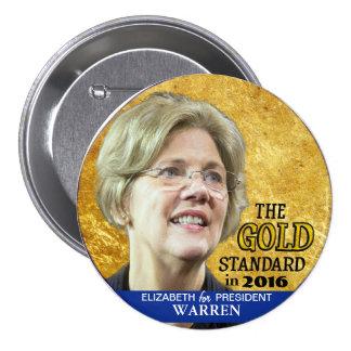 Elizabeth Warren for President in 2016 Pinback Button