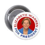 Elizabeth Warren For President Pin