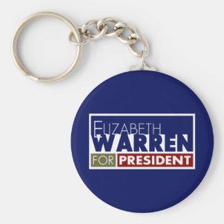 Elizabeth Warren for President V1 Basic Round Button Key Ring