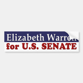 Elizabeth Warren for Senate bumper sticker