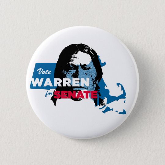 Elizabeth Warren Indian Parody button