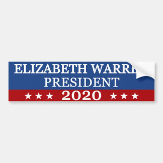 Elizabeth Warren President 2020 Bumper Sticker