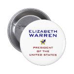 Elizabeth Warren President USA V2 Pinback Button
