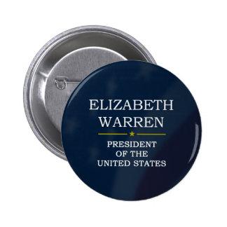 Elizabeth Warren President V3 Pin