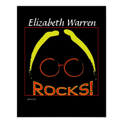Elizabeth Warren Rocks poster