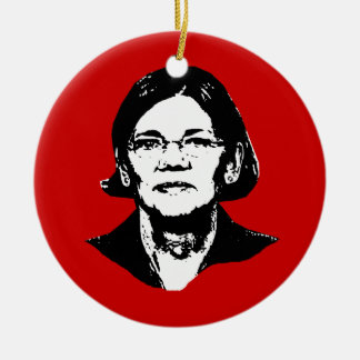 Elizabeth Warren - Round Ceramic Decoration