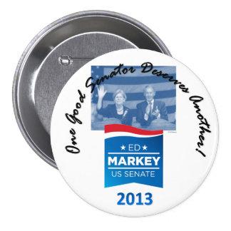 Elizabeth Warrren & Ed Markey pin