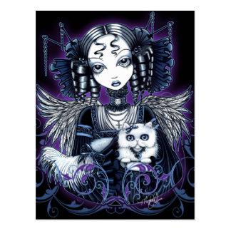 Elizabeth White Persian Cat Angel Postcard