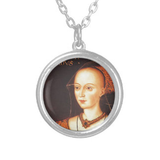 "Elizabeth Woodville ""The White Queen"" Silver Plated Necklace"