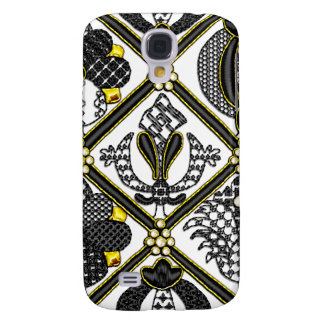 Elizabethan Blackwork tile Samsung Galaxy S4 Cases