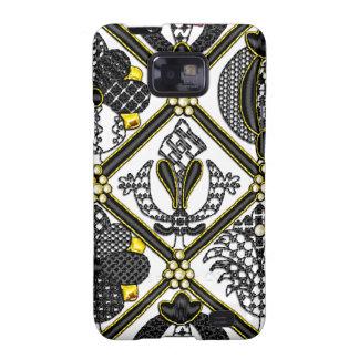 Elizabethan Blackwork tile Samsung Galaxy SII Case