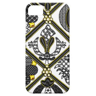Elizabethan Blackwork tile iPhone 5 Cases