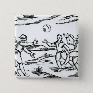 Elizabethan Football 15 Cm Square Badge