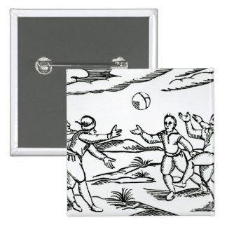 Elizabethan Football 15 Cm Square Badge